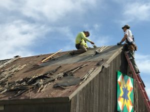 roof work at Cozens Ranch Museum