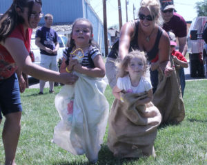 Kids sac race at Kremmling Days