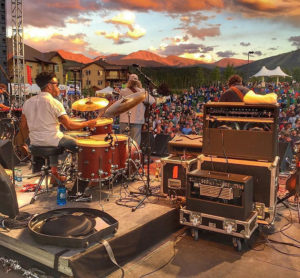 Leftover Salmon at Hideaway Park in Winter Park, CO. Courtesy of Juliana Broste