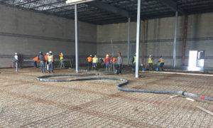 pouring concrete flooring