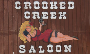 Crooked Creek Saloon Sign.