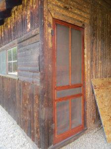 Restored screen door and window