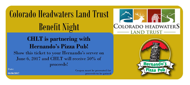 Colorado Headwaters Land Trust Restaurant Benefit Night