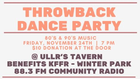 Throwback Dance Party to benefit KFFR