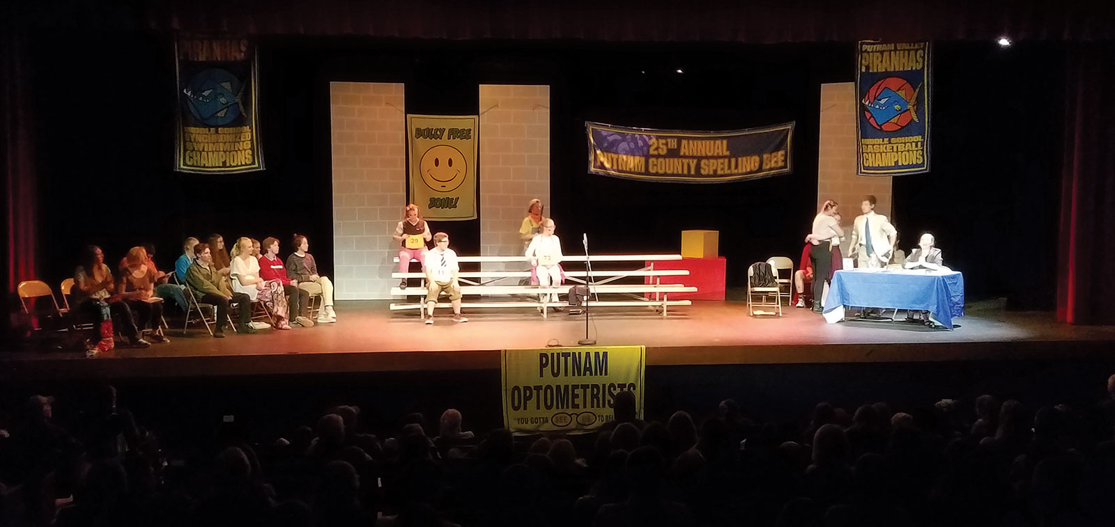 Act 2 Photo of The Putnam County Spelling Bee opening night at Middle Park High School.