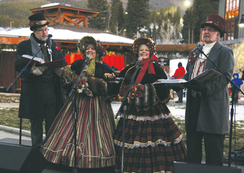 What the Dickens Caroling Group at Winter Park Resort Tree Lighting Ceremony