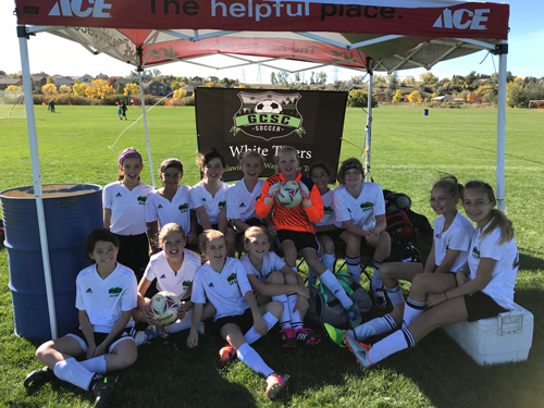 """Congratulations to the U-12 Grand County White Tigers. Champions of the Front Range League"""""""