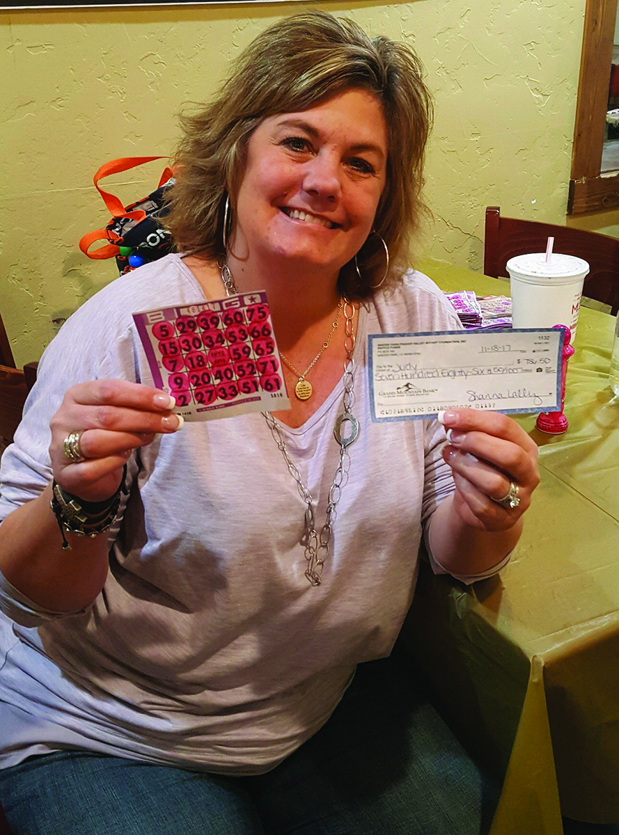 Judy Neiberger Bingo Winner