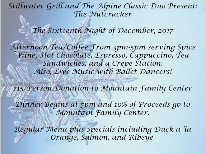 Holiday Tea and Special Dinner Menu with Live Music from The Nutcracker