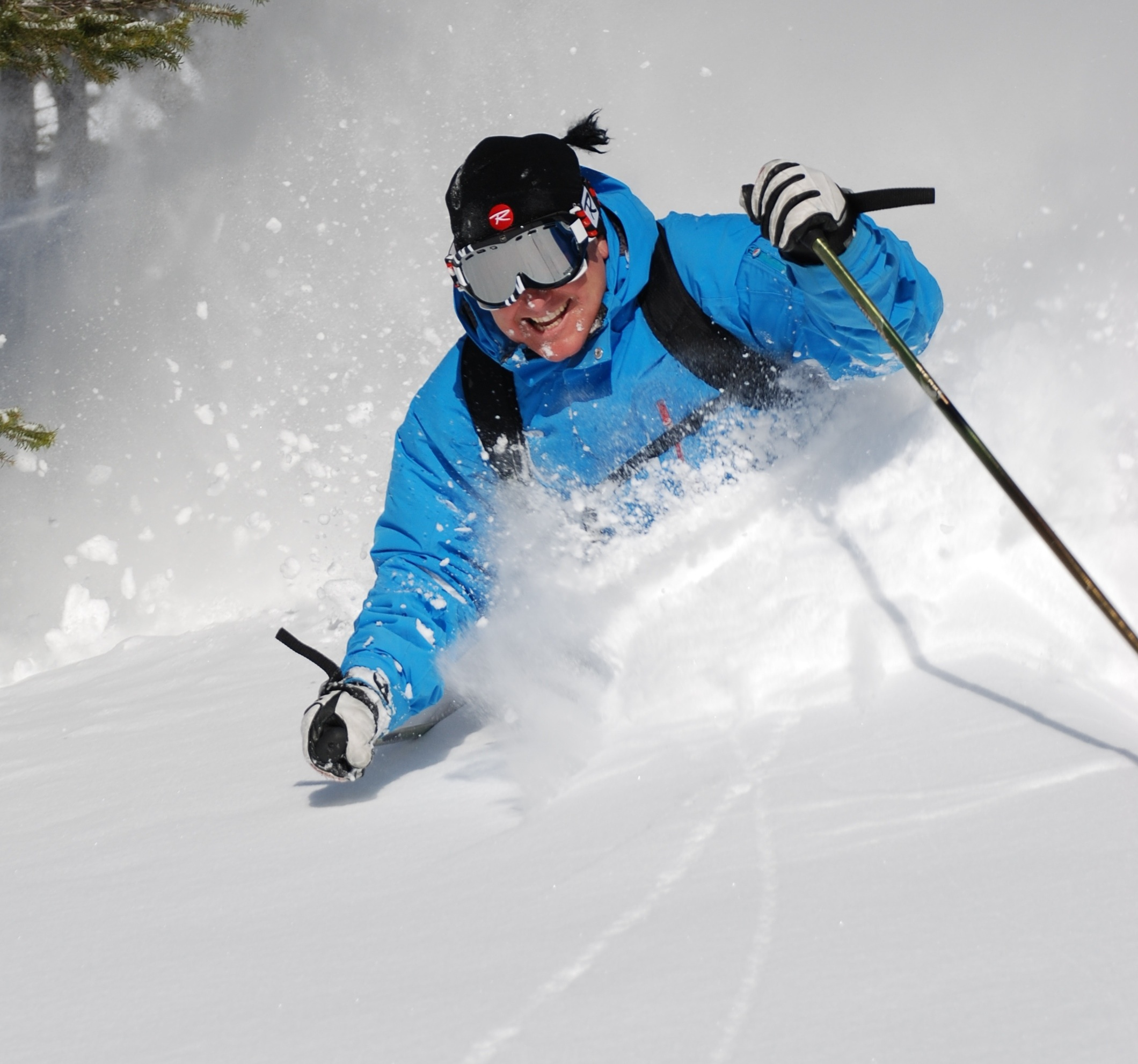 Skiier Deep Powder