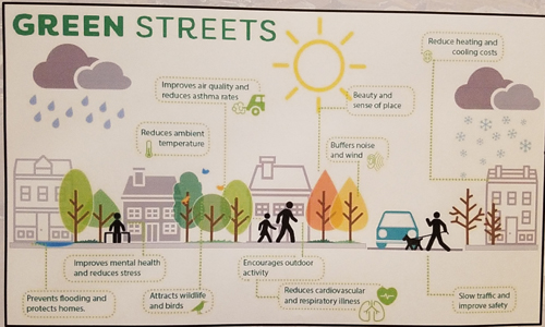 Outline of Green Streets - courtesy of the Town of Fraser