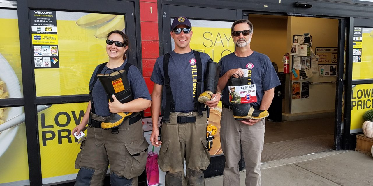 Grand County fire fighters out to #filltheboot this weekend