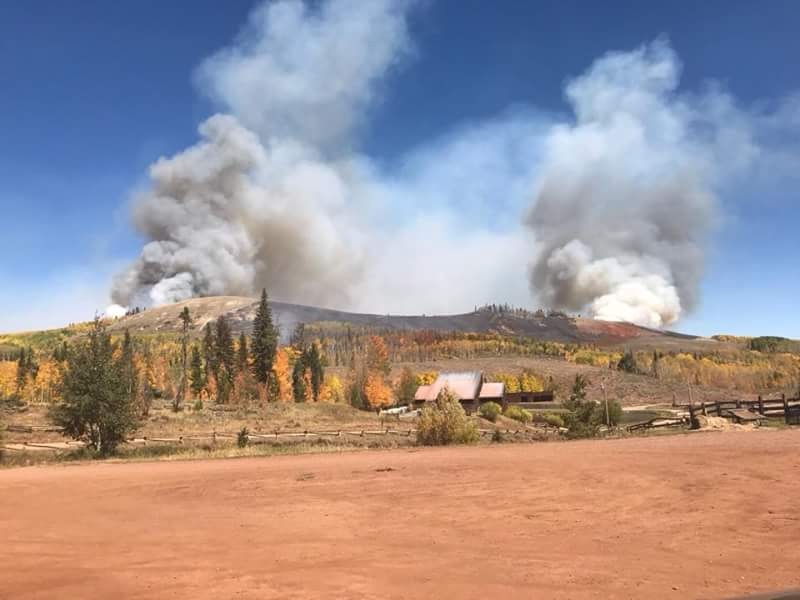 Increased fire activity and change of winds forces second evacuation of Old Park & Gore Lakes