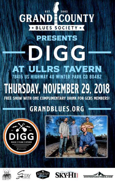 Grand County Blues Society Presents Digg at Ullrs Tavern