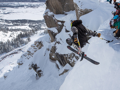 Kennison earns his wings at Kings and Queens in Jackson Hole's Corbet's Couloir