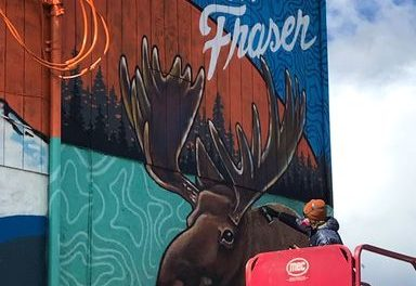 Mural artists keeping Fraser funky