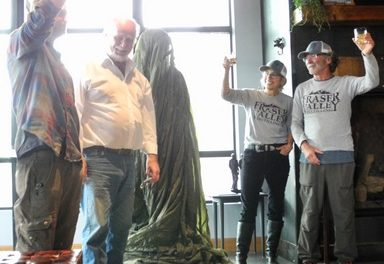Kerouac Bronze Unveiled at Fraser Distillery