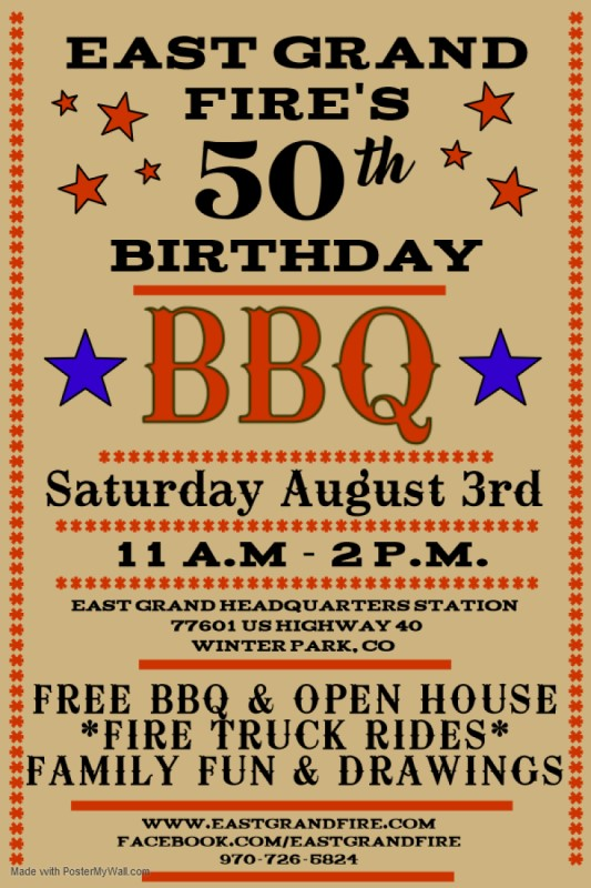East Grand Fire's 50th Birthday BBQ & Open House