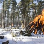 Winter conditions mark the start of pile burning season on the Sulphur Ranger District