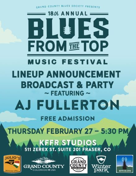 Blues From The Top Festival Lineup Announcement Party!