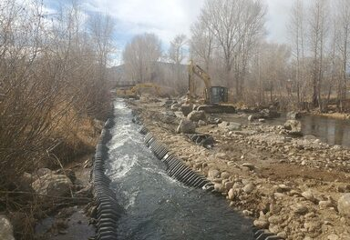 Fraser River Improvement Project in Granby nears completion
