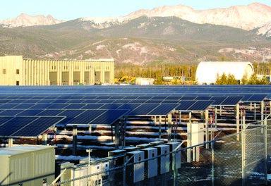 Solar Arrays green up local power supply