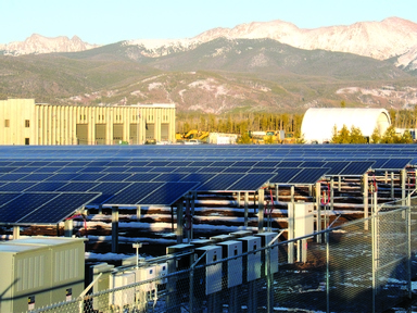 Solar Arrays green up local power supply